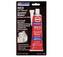Герметик прокладок силиконовый (красный) 85 г - ABRO